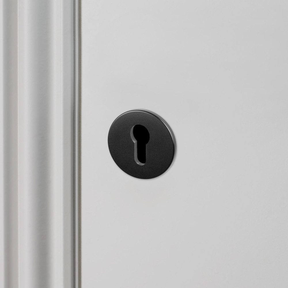 EURO CYLINDER KEY ESCUTCHEON / BLACK