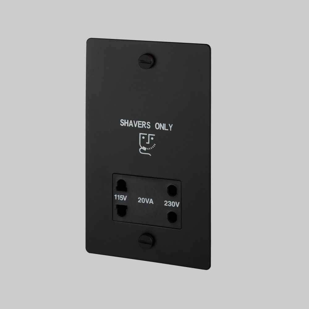 Shaver socket / Black