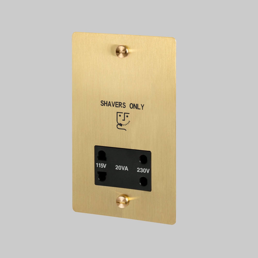 Shaver socket / Brass