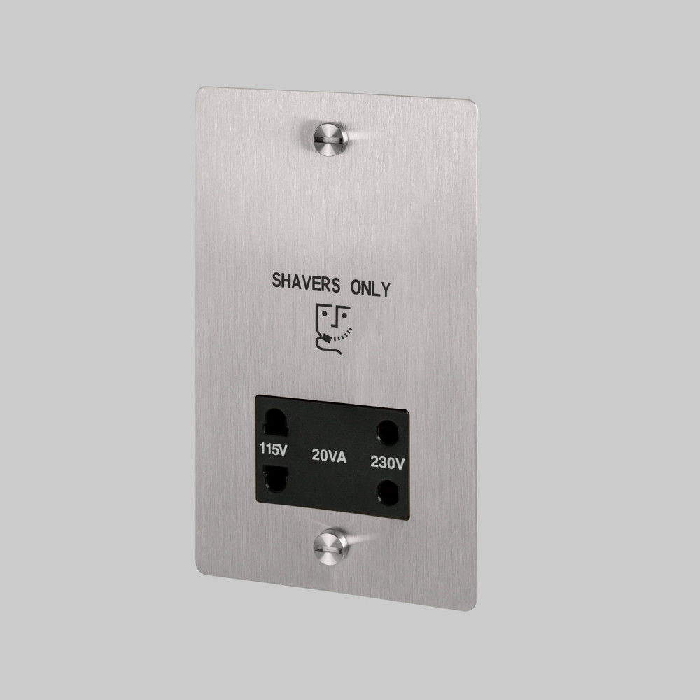 Shaver socket / Steel