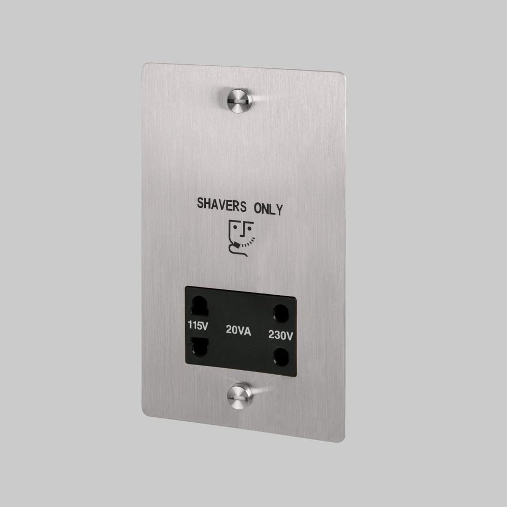 Shaver socket / Steel