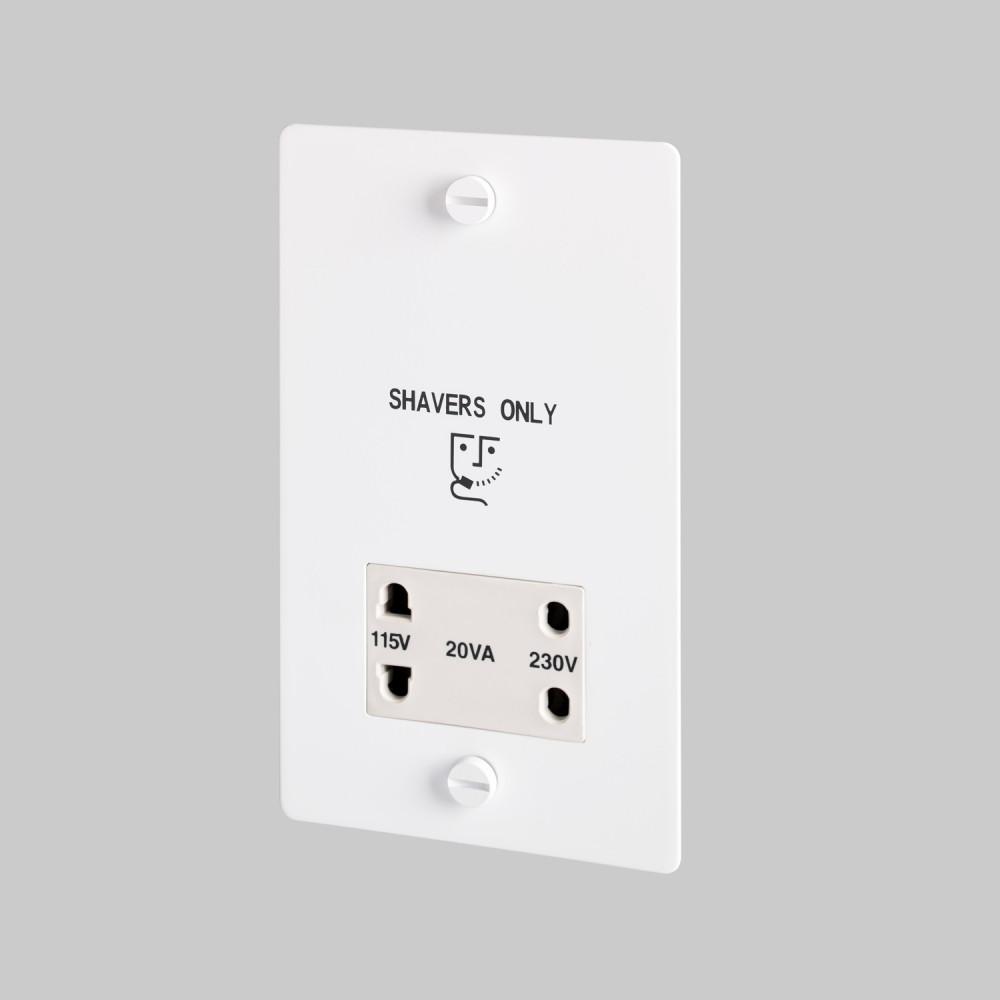 Shaver socket / White