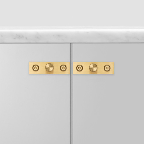 FURNITURE KNOB / PLATE / LINEAR / BRASS