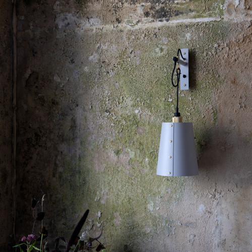 Buster + Punch / HOOKED wall light made out of solid metal with large shade