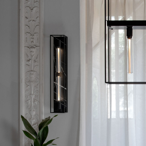 Buster + Punch / Caged wall light / Polished white marble