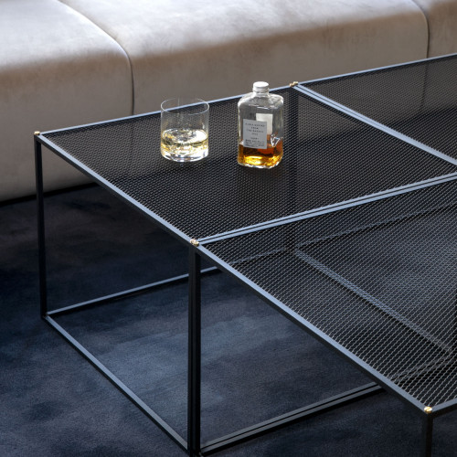 Buster + Punch / MESHED / Coffee Table / Black metal mesh furniture