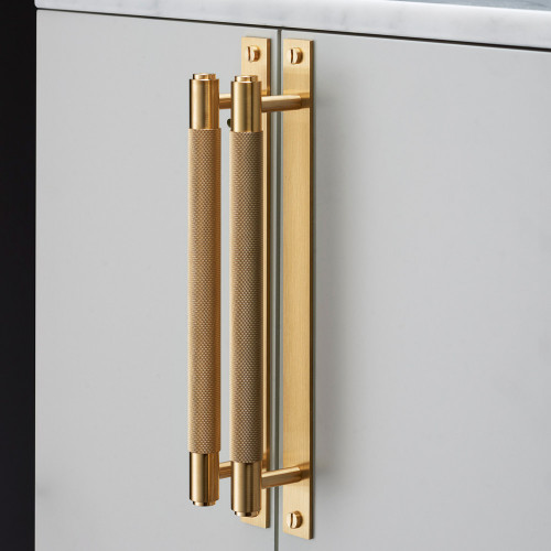 Buster & Punch / Pull Bar with Plate Kitchen hardware pull in solid brass