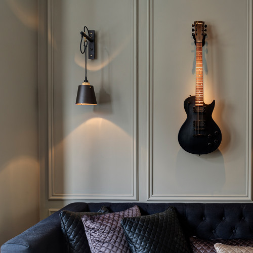 Buster + Punch / Hooked wall light made from solid metal / Small metal lamp shade