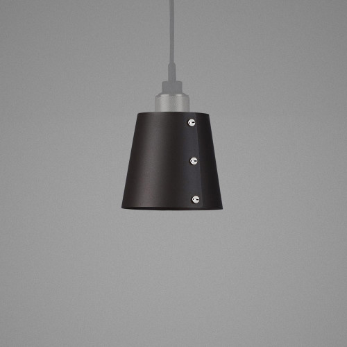 Light SHADE graphite / Hooked ceiling pendant / solid metal