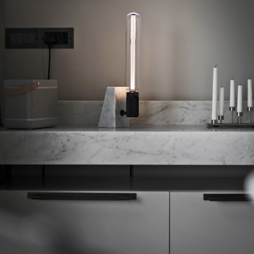 Buster + Punch / STONED table light made from solid honed black granite