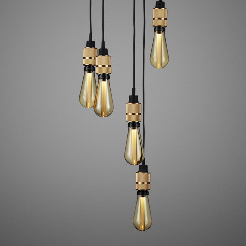 Buster + Punch / Hooked 6.0 Chandelier with six light pendants made from solid brass