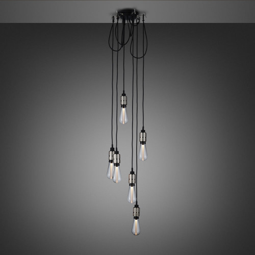 Buster + Punch / Hooked 6.0 Chandelier with six light pendants made from solid Stainless Steel