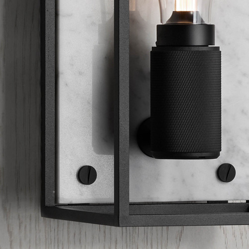 Caged wall light / Polished white marble / Buster + Punsch