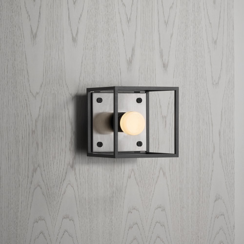 Buster + Punch / Caged wall light / Brushed steel