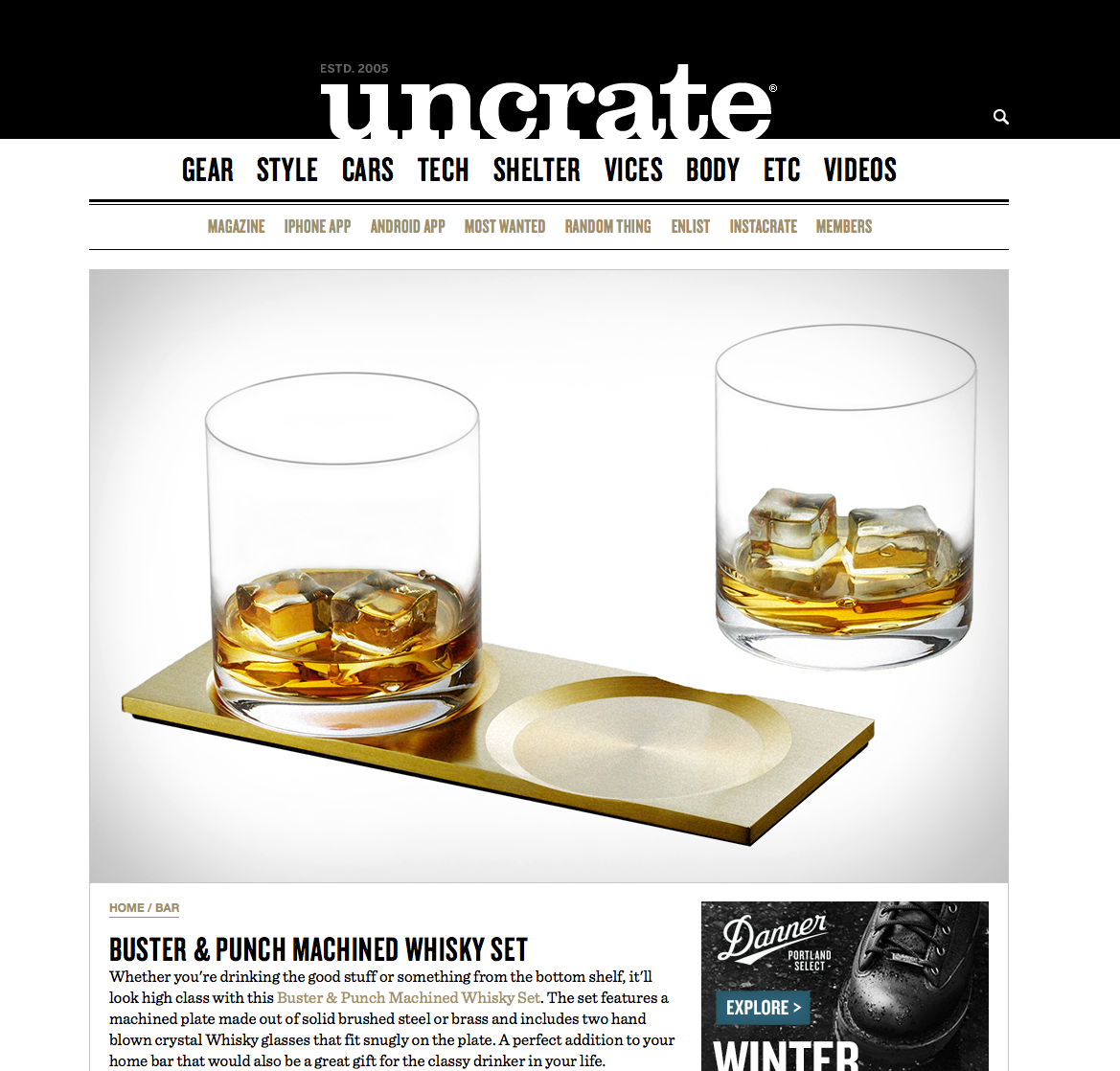 Uncrate - Machined Whisky Set