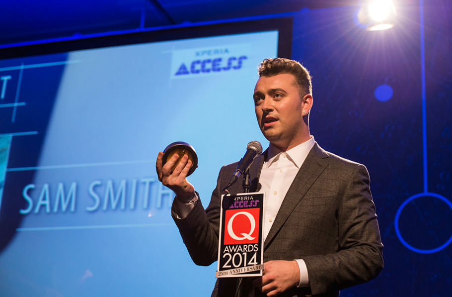 Sam Smith at the Q Awards 2014