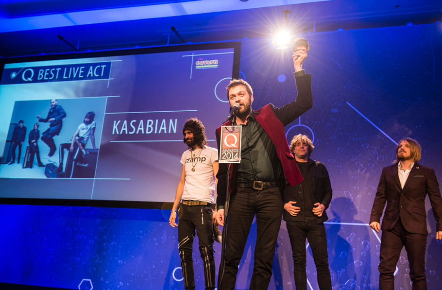 Kasabian at the Q Awards 2014