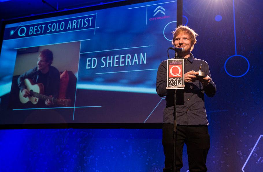 Ed Sheeran at the Q Awards 2014