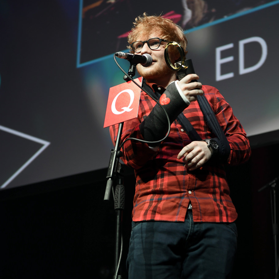 Ed Sheeran at the Q Awards 2017