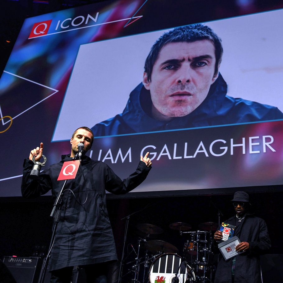 Liam Gallagher at the Q Awards 2017