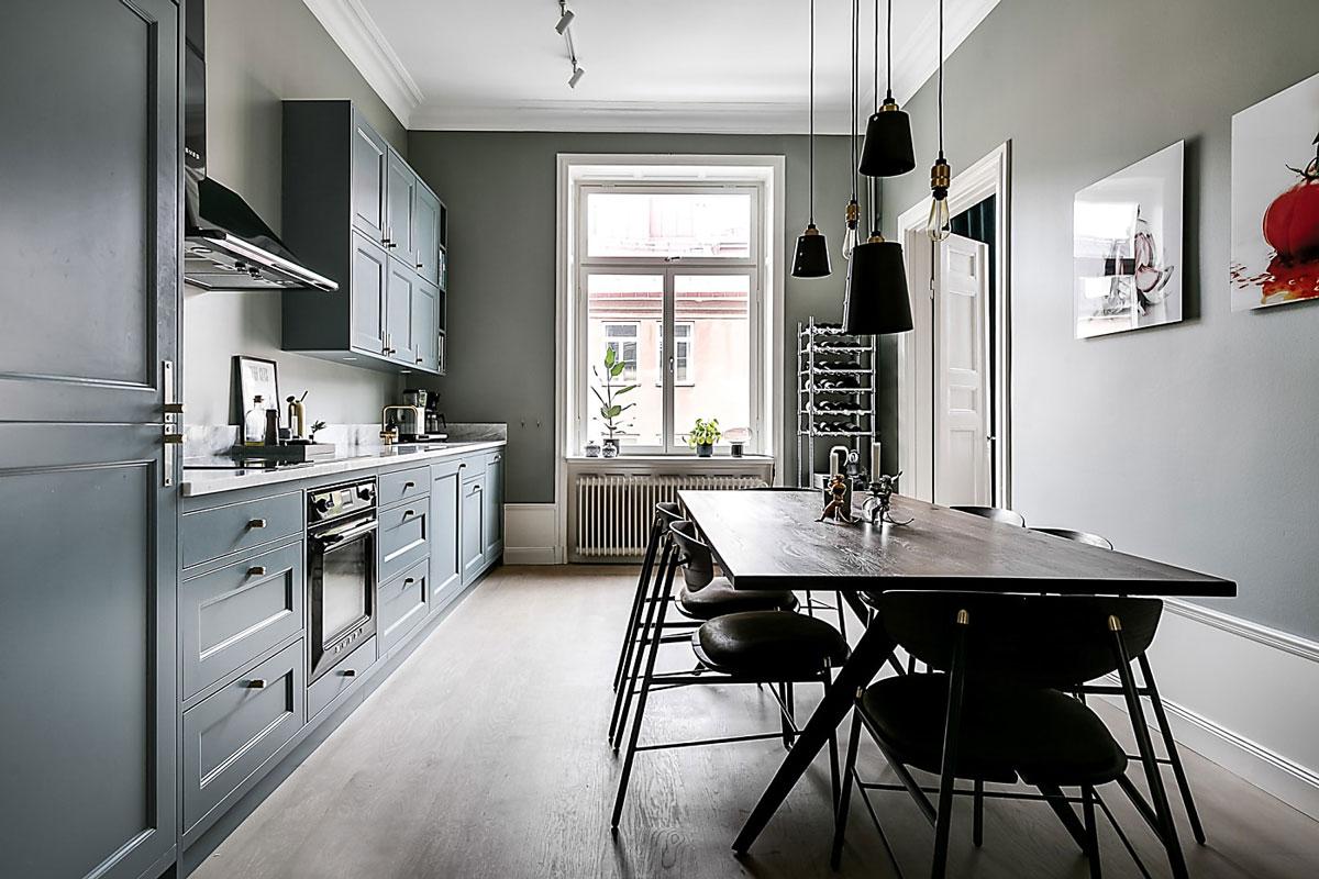 Scandinavian kitchen, grey
