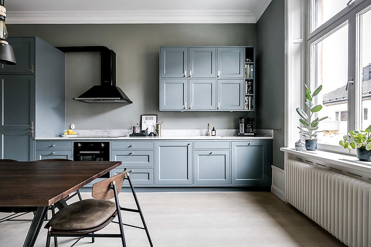 Green grey kitchen