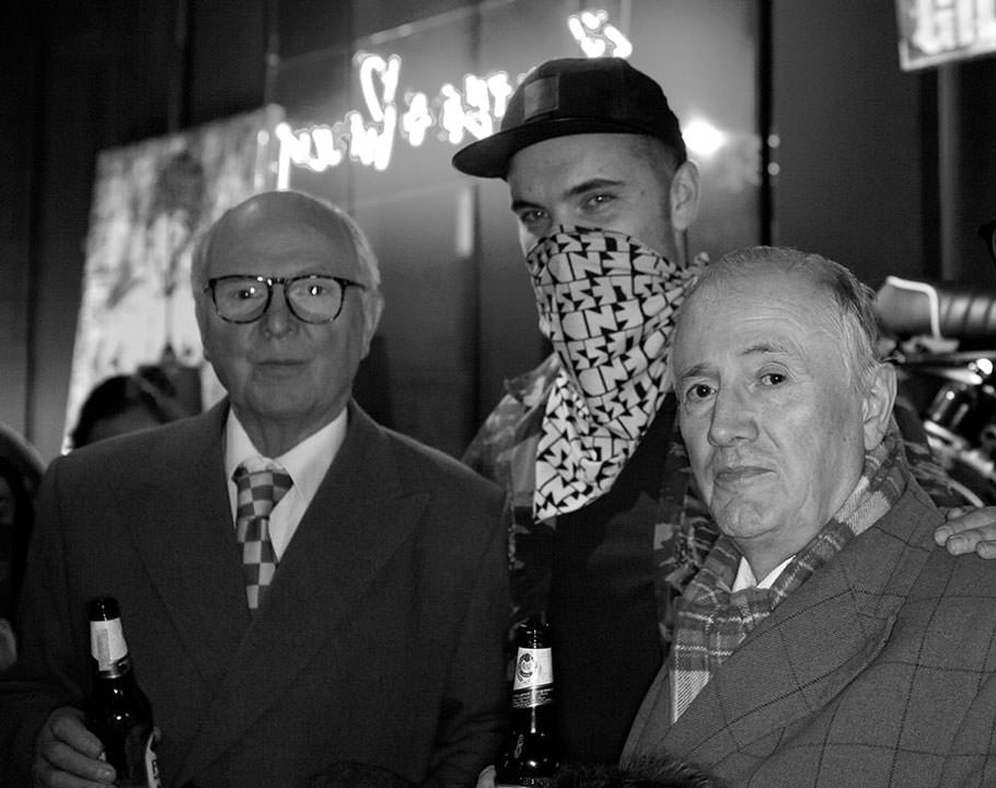 Endless together with contemporary artists Gilbert & George at the FILTH exhibition