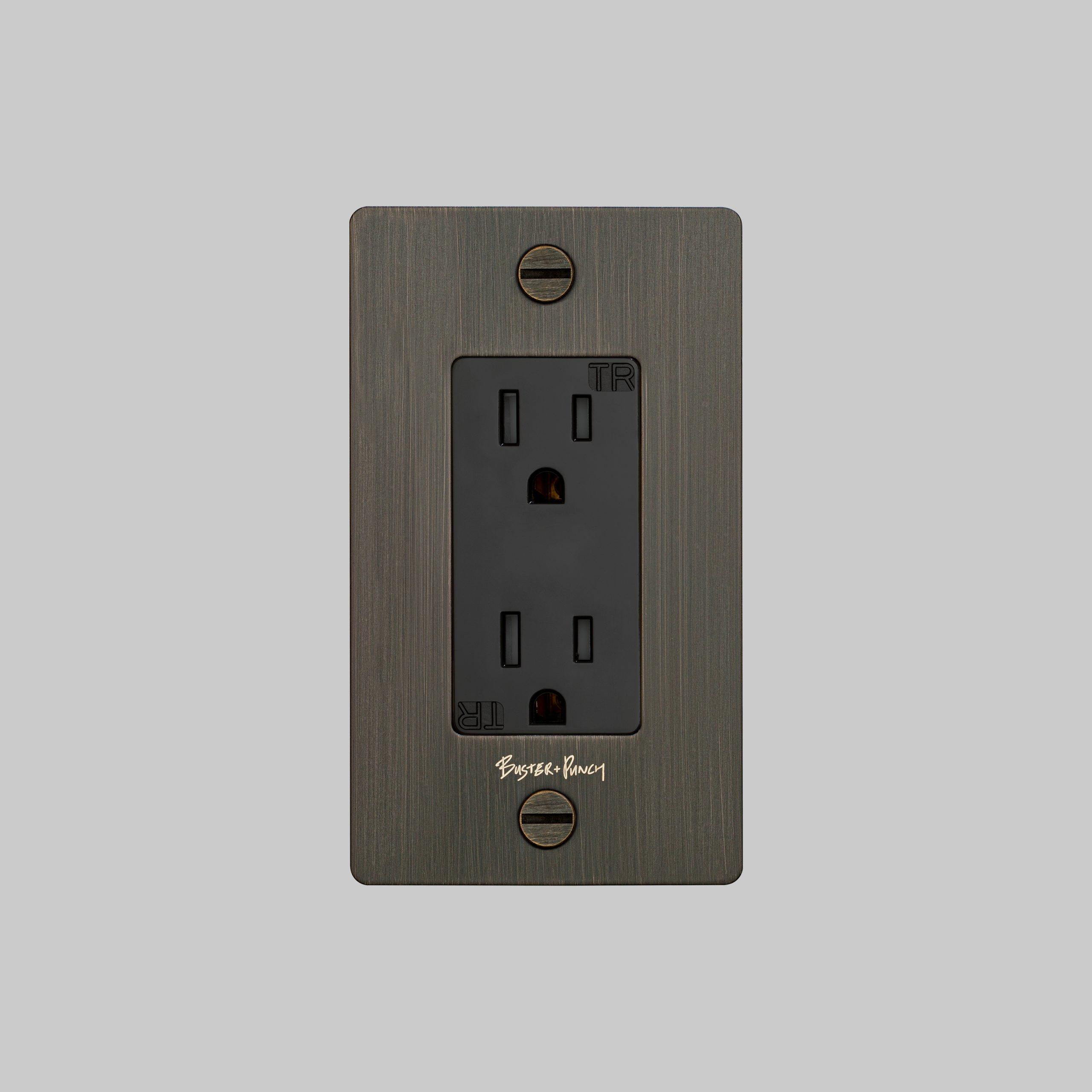 2. Buster+Punch_US_1G_Duplex_Outlet_Smoked_Bronze_Front
