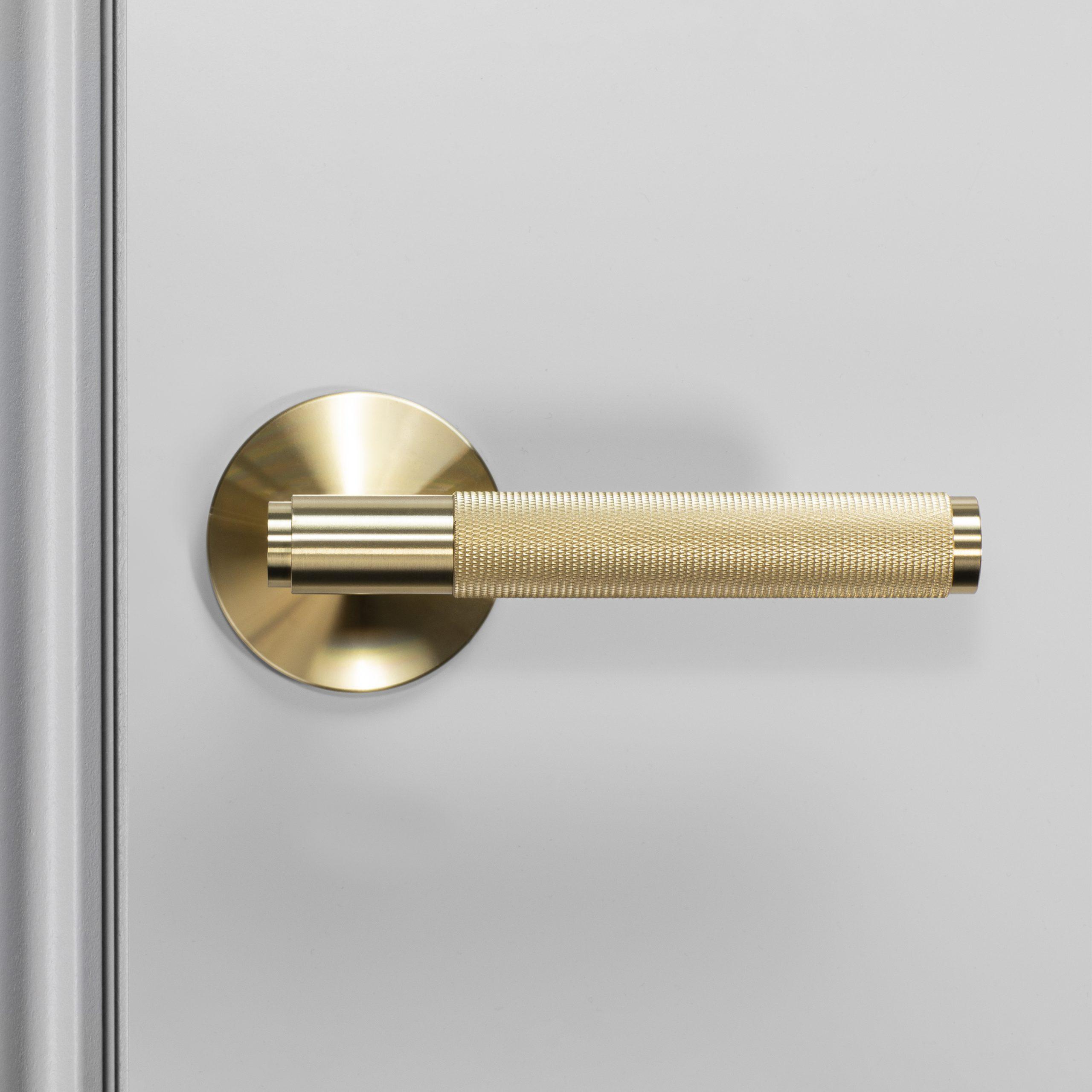2. Buster+Punch_Door_Handle_Front_Passage_Brass