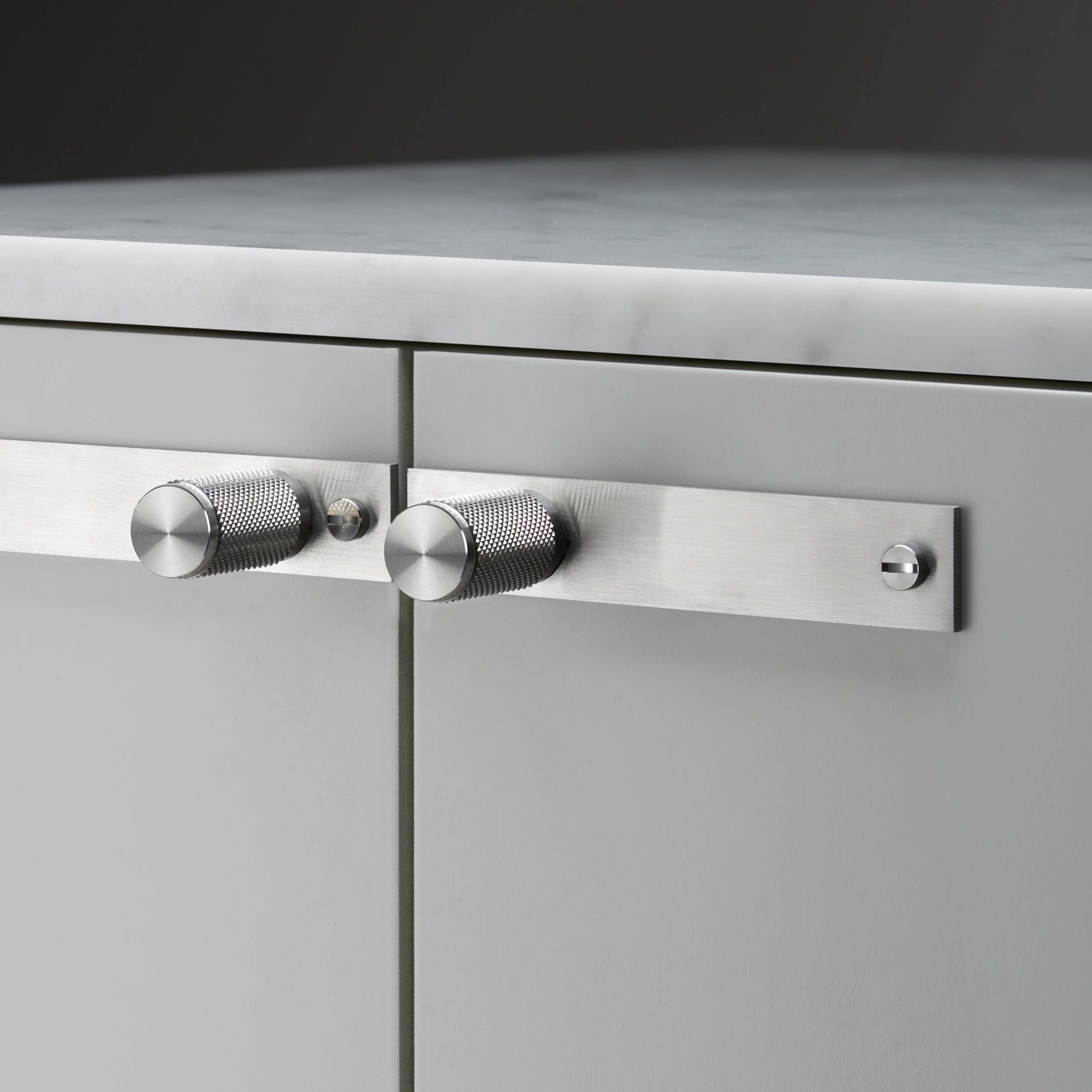 steel furniture knobs with plate