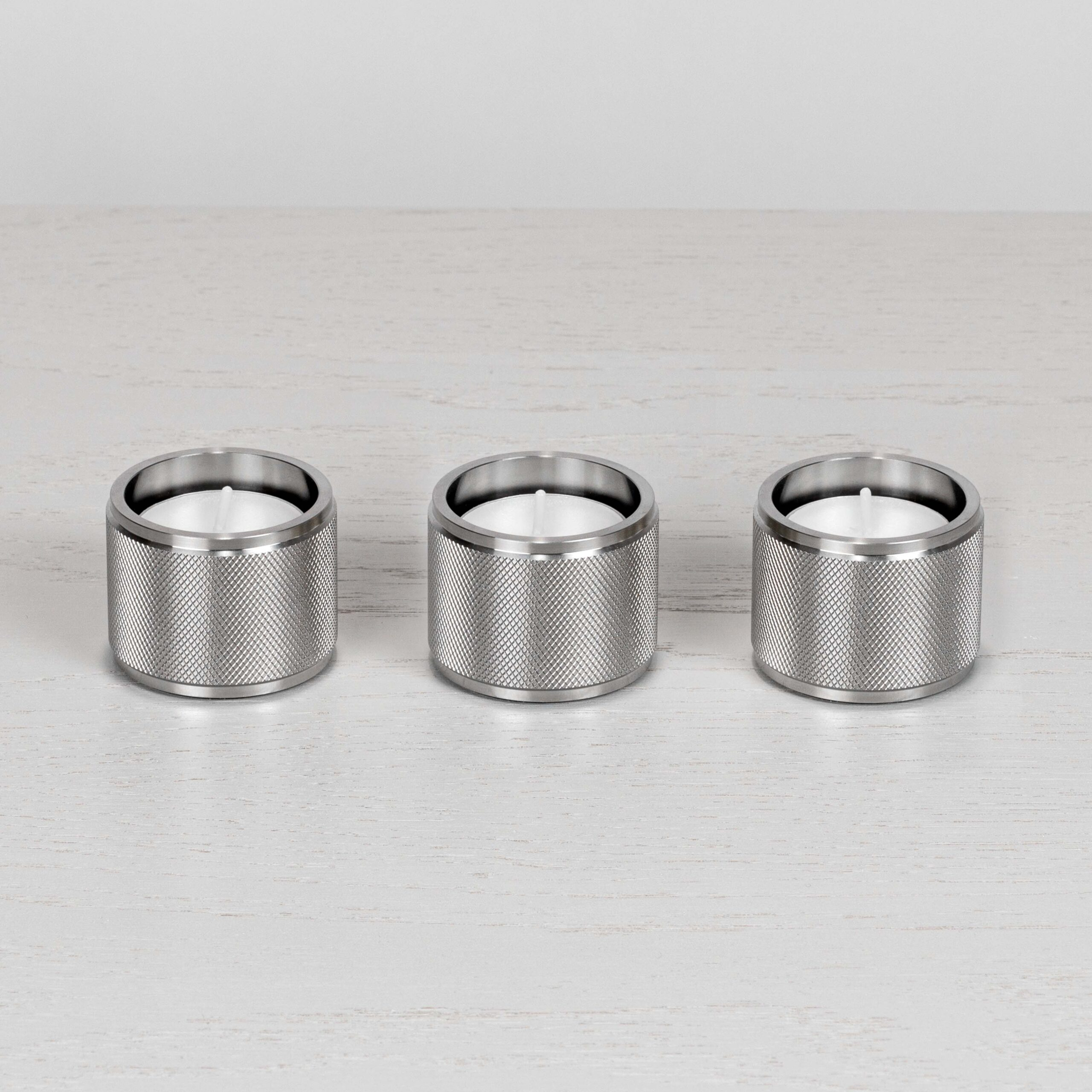 Tealight Candle Holder Steel Set Of 3 Buster Punch