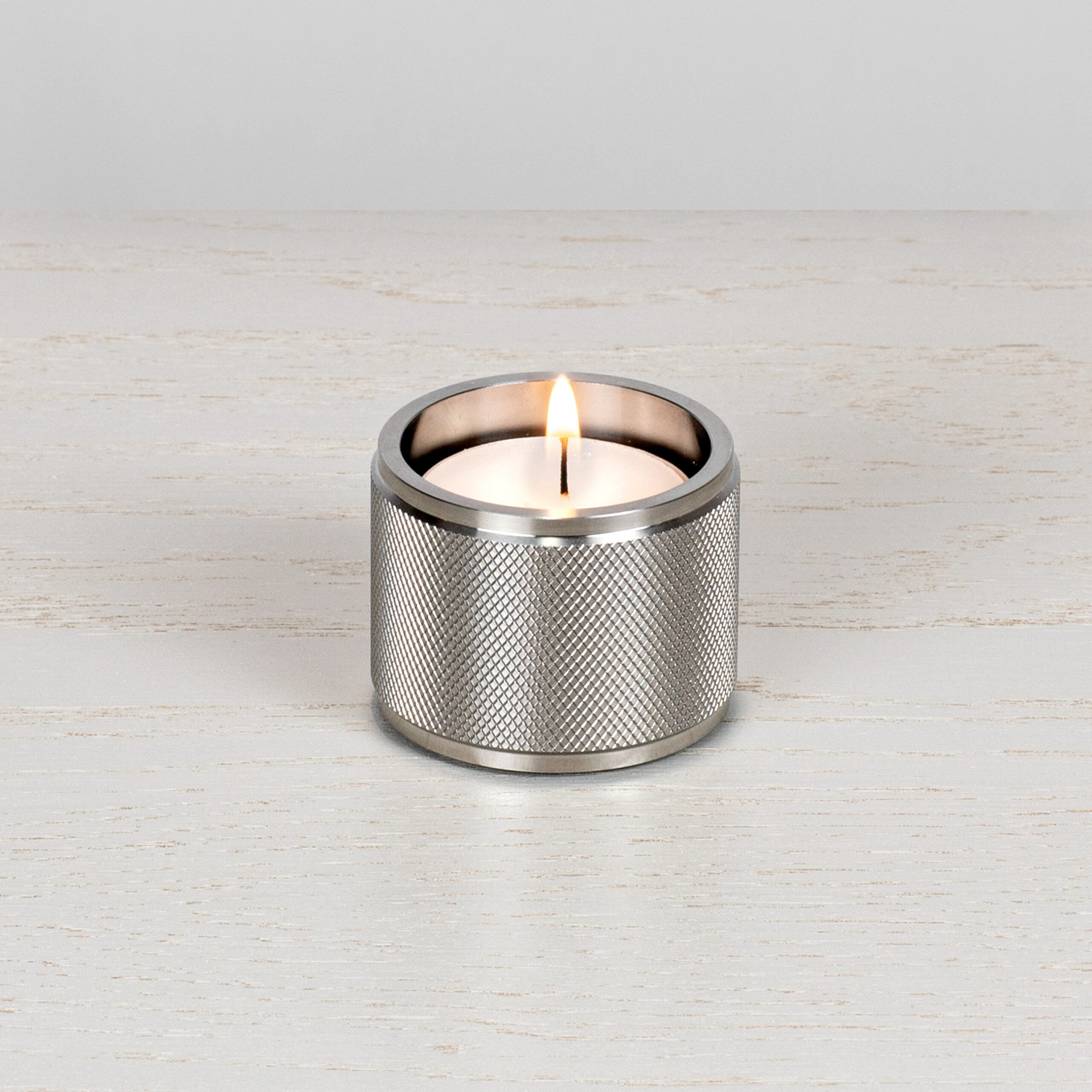 2. Buster+Punch_Tealight_Candle_Holders__Steel_Front_on