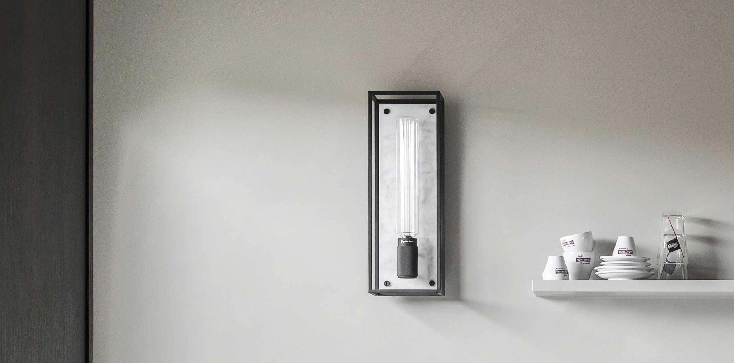 Caged wall light