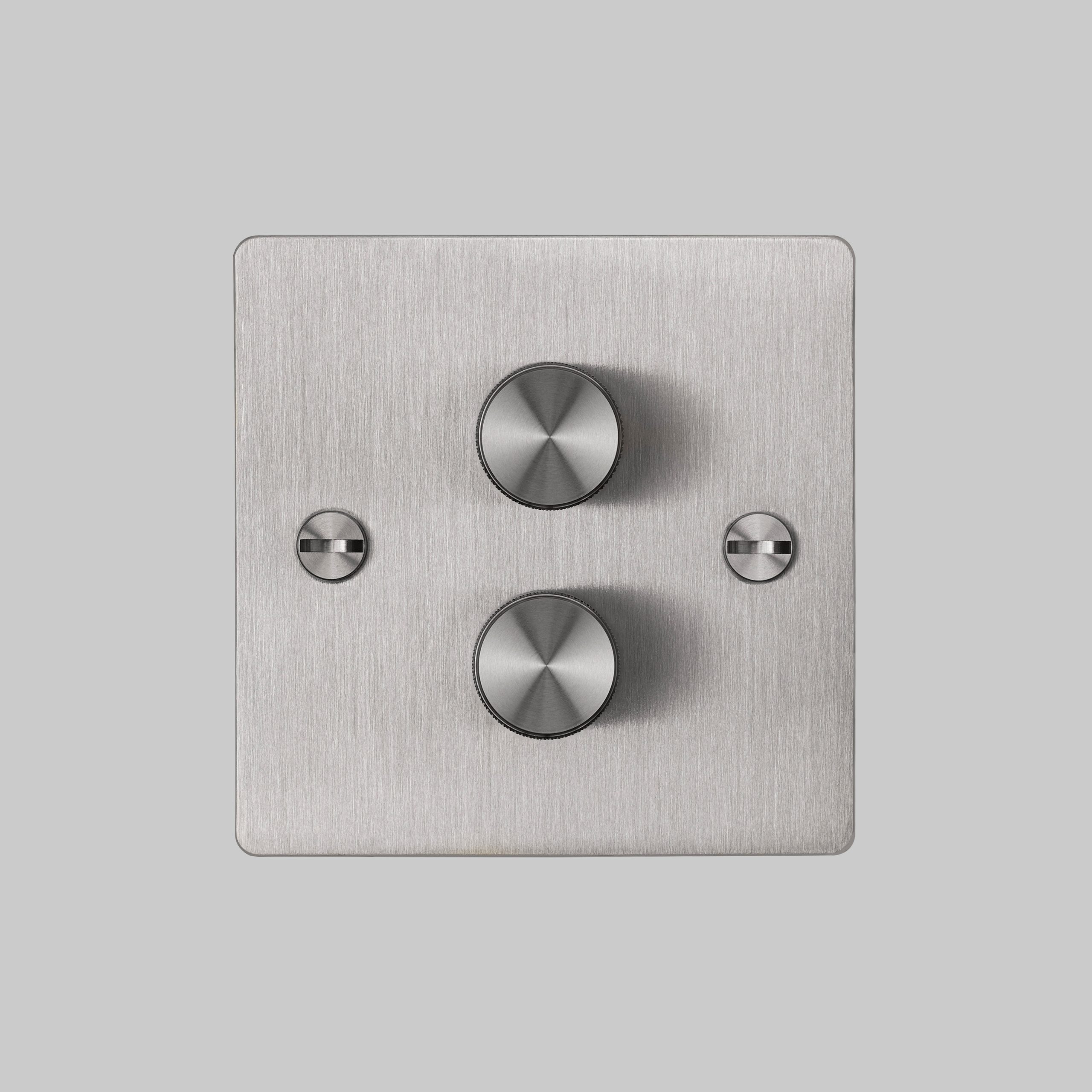 2. Buster+Punch_2G_Dimmer_Front_Steel