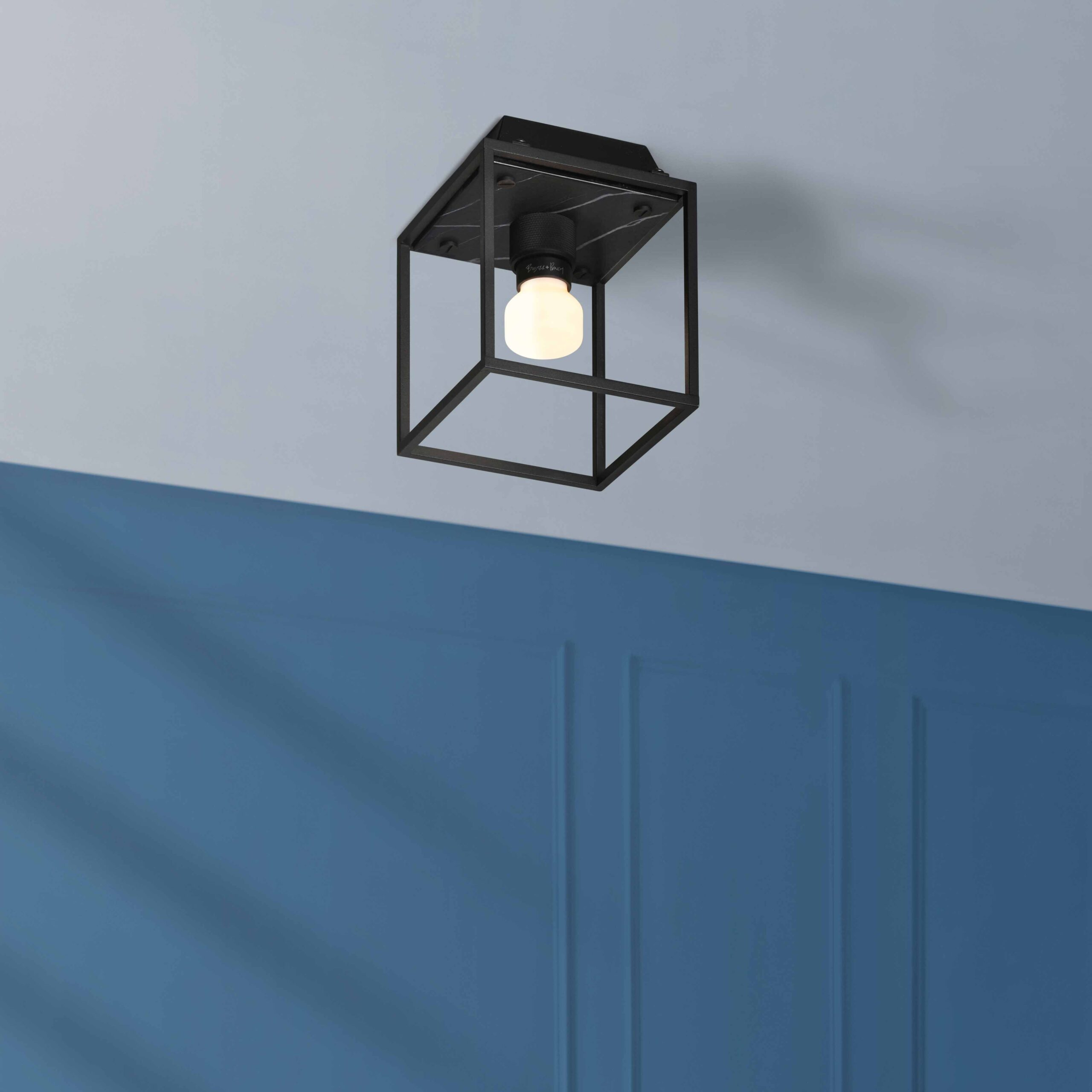 BusterPunch_Caged_Ceiling_light_small_black_marble