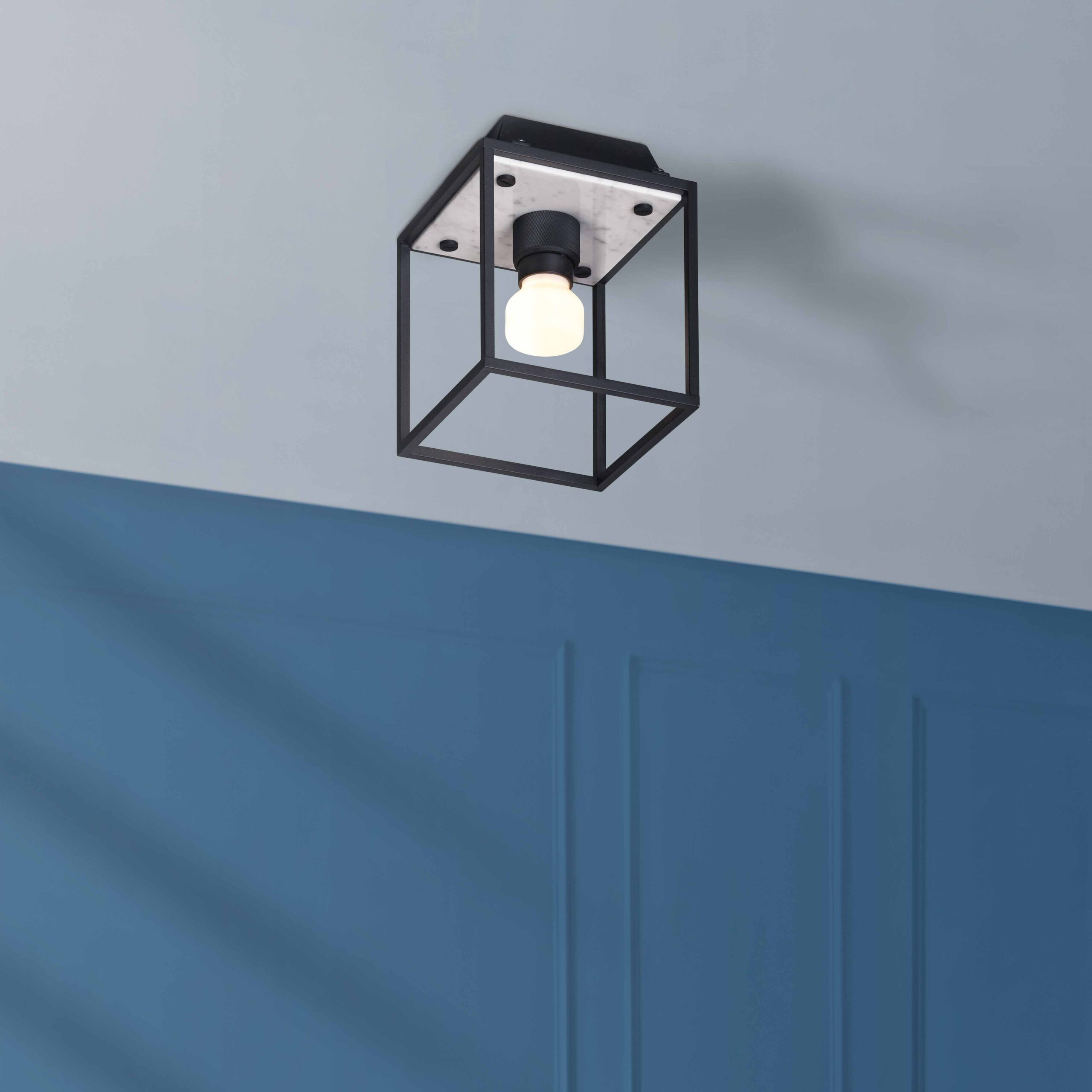 BusterPunch_Caged_Ceiling_light_small_white_marble