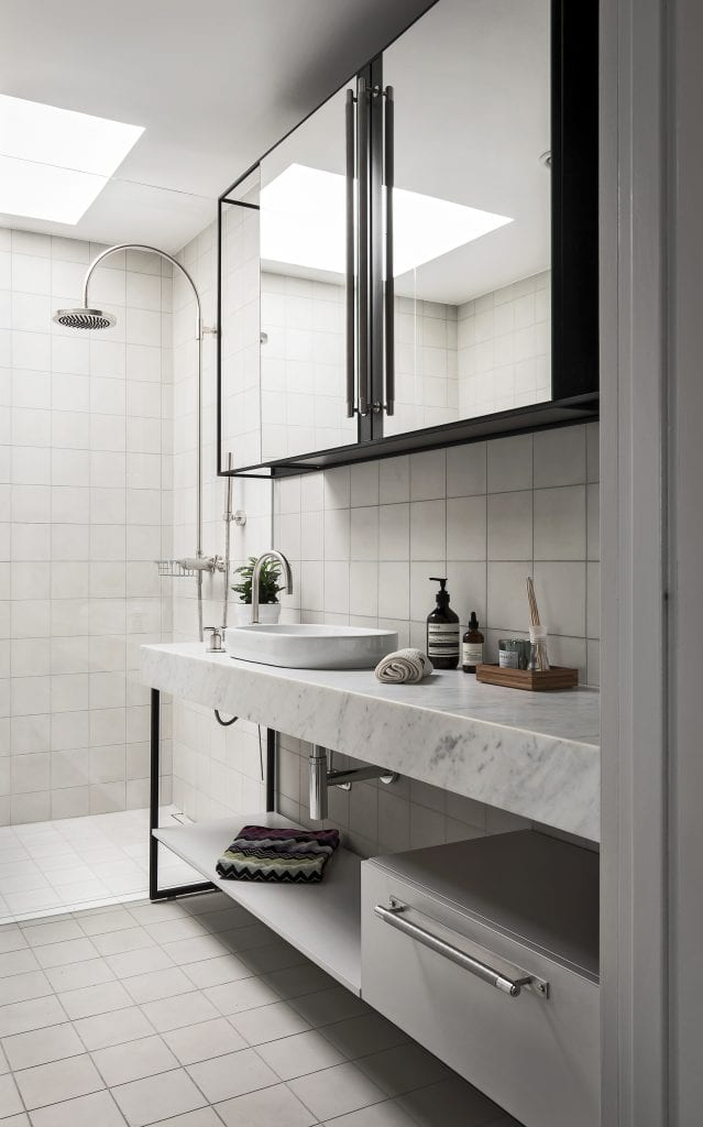 Bathroom featuring Buster + Punch Steel closet bar