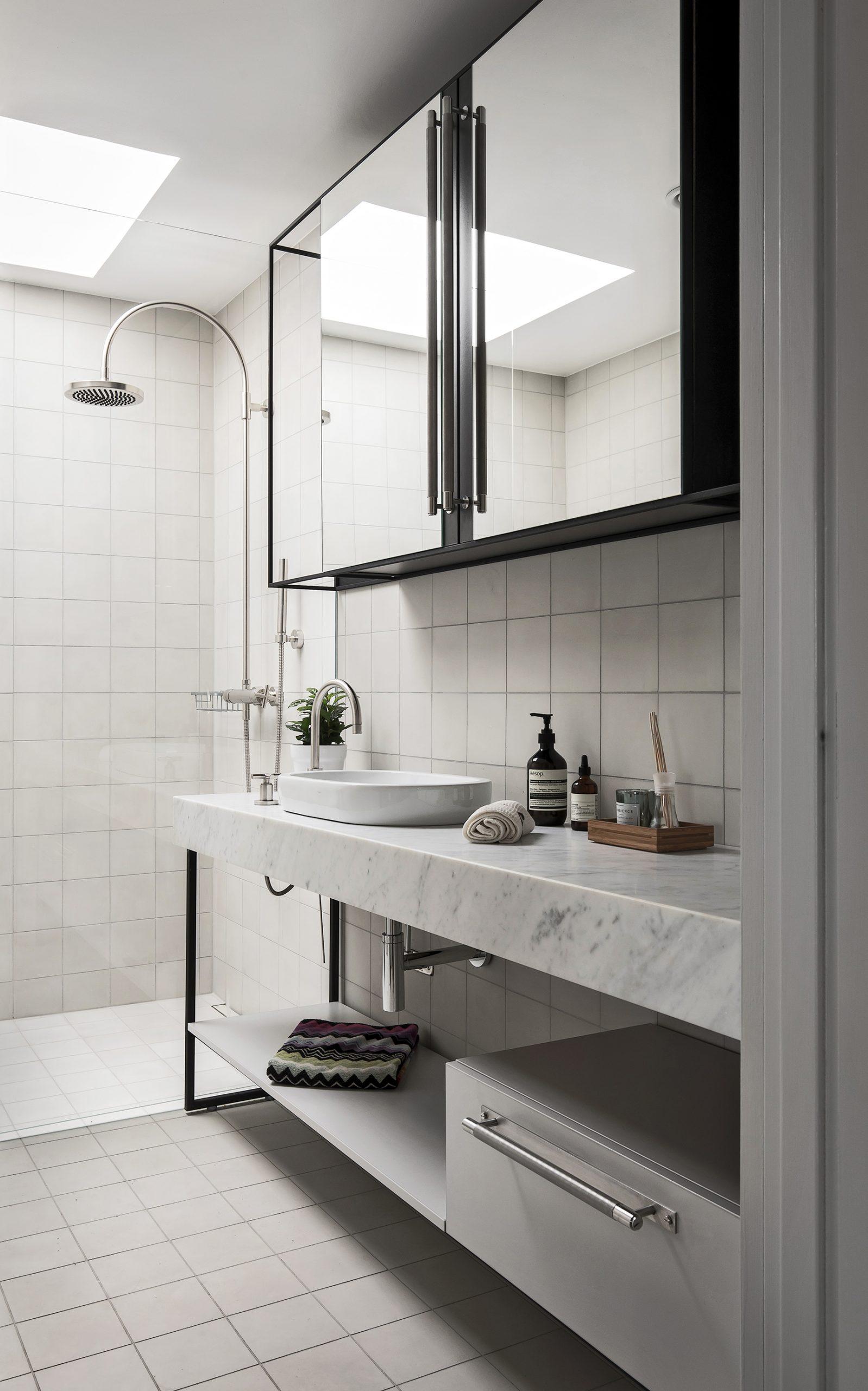 Bathroom featuring Buster + Punch Steel closet bar