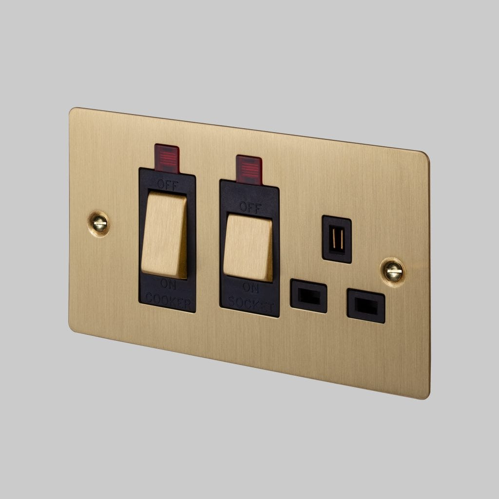 Cooker Control Unit    Brass